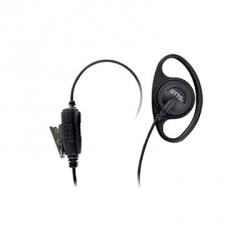 Otto Auricular con Micrófono con Solapa para Radio E1-ET2MS131, Negro, para Motorola