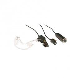 Otto Kit Auricular con Micrófono de Solapa de 3 Cables para Radio V1-10265, Negro, para Kenwood