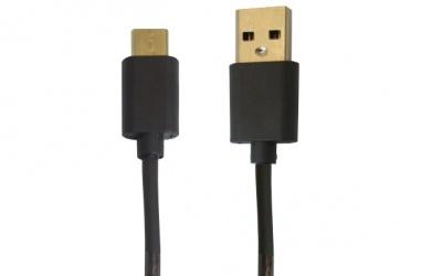 OvalTech Cable USB C Macho - USB Macho, 2 Metros, Negro