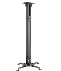 Ovaltech Soporte de Techo para Proyector, hasta 13.5 Kg, Negro