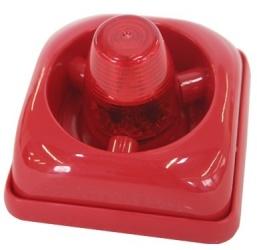 Paamon Sirena para Interiores/Exteriores PAM-F2L, Alámbrico, 85dB, Rojo