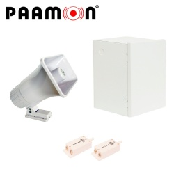 Paamon Sirena para Exterior PAM-SRE30W, Alámbrico, 2 Tonos, 119dB, Blanco, con Gabinete LINCE11 y Tampers