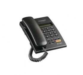 Panasonic Teléfono Alámbrico con Identificador de Llamadas KX-T7705X-B, Altavoz, Negro