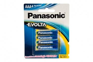 Panasonic Pilas Alcalinas AAA, 1.5V, 4 Piezas