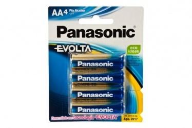 Panasonic Pilas Alcalinas AA, 1.5V, 4 Piezas