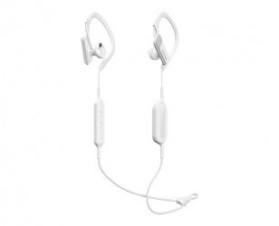 Panasonic Audífonos Intrauriculares Deportivos con Micrófono RP-BTS10-W, Inalámbrico, Bluetooth 4.1, Blanco