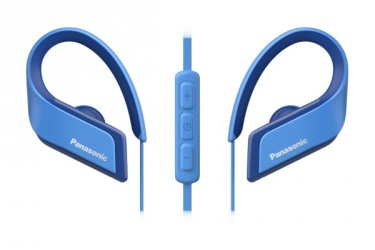 Panasonic Audífonos Intrauriculares Deportivos con Micrófono RP-BTS35, Inalámbrico, Bluetooth, Azul