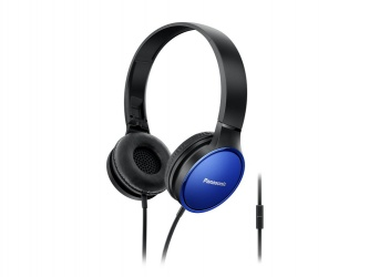 Panasonic Audífonos RP-HF300E, Alámbrico, 3.5mm, Negro/Azul