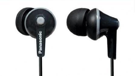 Panasonic Audífonos Intrauriculares RP-HJE125, Alámbrico, 1.1 Metros, 3.5mm, Negro