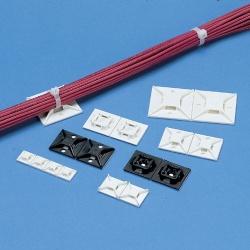 Panduit Sujetador de 4 Vías para Cintillos con Adhesivo, 1''x1'', Blanco, 100 Piezas
