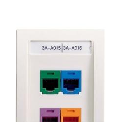 Panduit Etiqueta No Adhesiva de Poliéster, Identificador para 4 Puertos Mini-Com, 2.61'' x 0.35'', Blanco