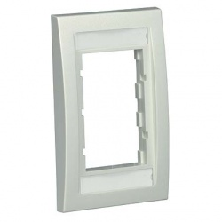 Panduit Placa de Pared Vertical CBEWHY, 3 Puertos, Blanco