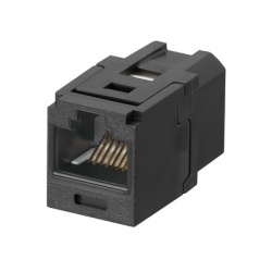 Panduit Jack de Red Cat5e, RJ-45, Negro