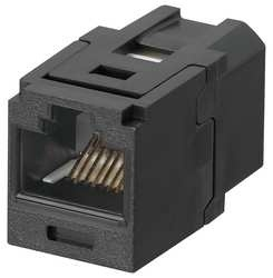 Panduit Jack de Red Cat6 de 8 Posiciones, RJ-45, Negro