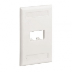 Panduit Placa para Pared, 2 Puertos, Blanca