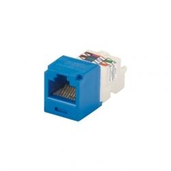 Panduit Jack Mini-Com Categoría 6 UTP de 8 Posiciones para 8 Cables, Azul