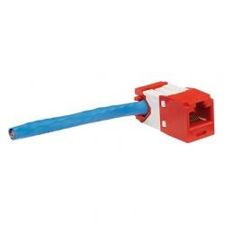 Panduit Jack de Red Angulado Cat6, UTP, RJ-45, Azul