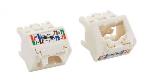 Panduit Tapa para Cable Cat6, 45°, RJ-45, Blanco