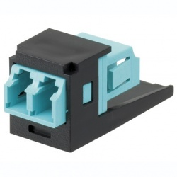 Panduit Módulo Suministrado con Adaptador de Fibra Óptica LC Sr/Sr 10Gig OM3/OM4 SFF Dúplex Multimodo, Azul