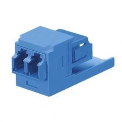 Panduit Módulo Suministrado con Adaptador de Fibra Óptica LC Sr/Sr SFF Dúplex Monomodo, Azul