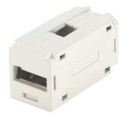 Panduit Adaptador USB Hembra - USB 2.0 A Hembra, Blanco