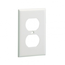 Panduit Placa de Pared, 2x NEMA, Blanco