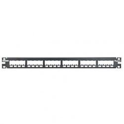 Panduit Panel de Parcheo Modular Metálico de 24 Puertos, 1RU, Negro