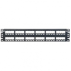 Panduit Panel de Parcheo, RJ-45, 48 Puertos, 2U