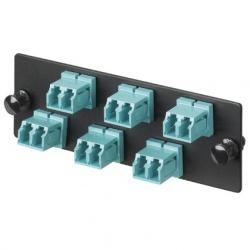 Panduit Panel de 6 Adaptadores de Fibra Óptica LC 10Gig OM3/OM4 Dúplex Multimodo, Azul
