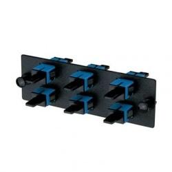 Panduit Panel de 6 Adaptadores de Fibra Óptica SC Simplex Monomodo, Azul