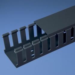 Panduit Ducto Tipo G de Ranuras Anchas, 3'' x 3'', 1.82 Metros, PVC, Negro