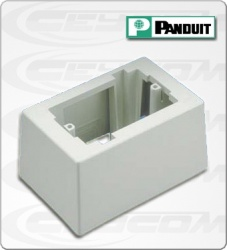 Panduit Caja Superficial, 8.3 x 4.1cm, Blanco, 1 Pieza