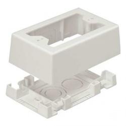 Panduit Caja Sencilla con Adhesivo Blanco para Ducto LD y T45, 1 Pieza