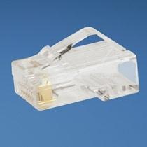 Panduit Conector Modular de 8 Posiciones para 8 Cables Cat5e RJ-45 UTP 24 AWG, Paquete de 100 Piezas