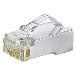 Panduit Conector Cat5e de 8 Posiciones, RJ-45, Transparente, 100 Piezas