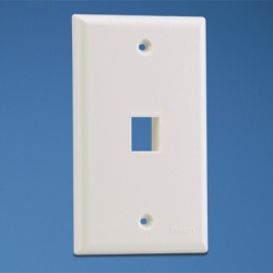 Panduit Placa Screwless de 1 Puerto, Blanco
