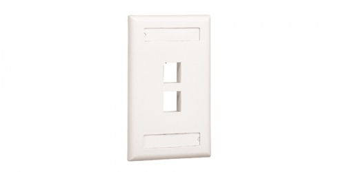 Panduit Placa de Pared 2 Puertos NetKey, Marfil