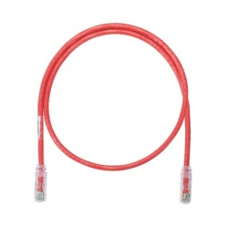 Panduit Cable Patch NetKey Cat6 UTP, RJ-45 Macho - RJ-45 Macho, 3.05 Metros, Rojo