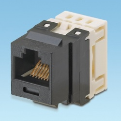 Panduit Jack de Red Cat5e de 8 Posiciones, RJ-45, Marfil