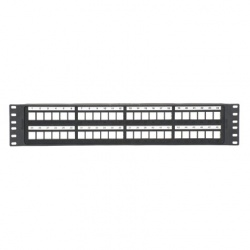 Panduit Panel de Parcheo de 48 Puertos, 2U, Negro