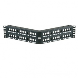 Panduit panel de parcheo angular 48 puertos negro - Patch panel de 24 puertos ...