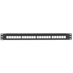 Panduit Panel de Parcheo de 24 Puertos, 2U, Negro
