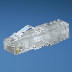 Panduit Conector Modular Cat 6a RJ-45 de 8 Posiciones, Transparente, 100 Piezas