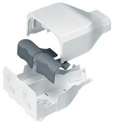 Panduit Entrada de Plástico para Extremo de Canaleta T-45, PVC, Blanco