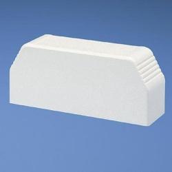Panduit Tapa Plástico para Extremo de Canaleta T-70, Blanco
