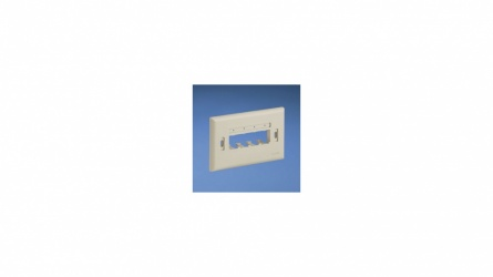 Panduit Placa de Pared Horizontal Ultimate ID, 4 Puertos, Blanco