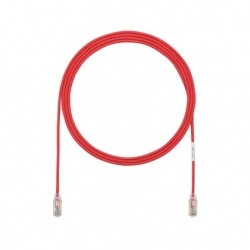 Panduit Cable Patch Cat6 UTP 28AWG, RJ-45 Macho - RJ-45 Macho, 90cm, Rojo