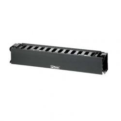 Panduit Organizador de Cables Horizontal Extendido Sencillo, 2UR, Negro