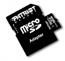 Memoria Flash Patriot PSF32GMCSDHC10, 32GB, MicroSDHC Clase 10, con Adaptador