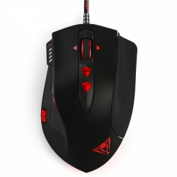 Mouse Gamer Patriot Láser Viper V560, Alámbrico, USB, 12.000DPI, Negro/Rojo